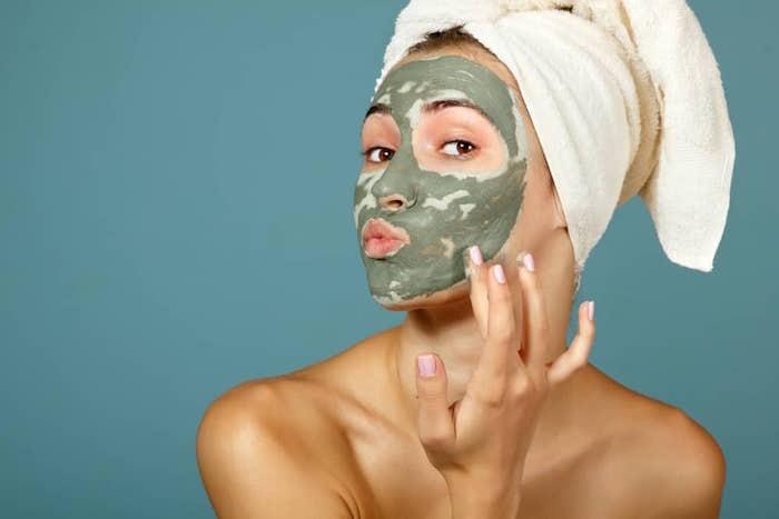 Argile verte pour la peau.